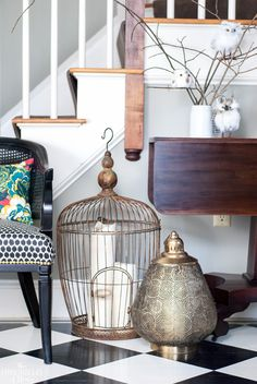 Pretty antique looking lanterns add a warm and welcoming sparkle to your entryway for the holidays. Decorating doesn't have to be expensive when you shop Gordmans