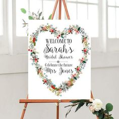 Bridal Shower Decor, Welcome Sign, Printable Bridal Shower, Wedding Printables,  flower Bridal sign,  Country wedding,  Custom Bridal sign