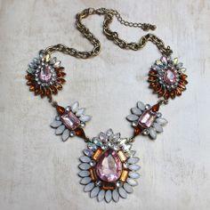 Elisabetta Statement Necklace Pink