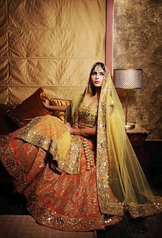 Stunning lehnga, Unknown designer gher holy grail look