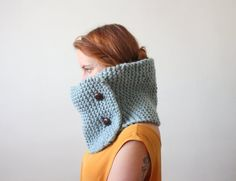 (via cowl scarf in ice blue by Thrush on Etsy)