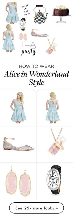 """""""Alice and wonderland"""" by shannoncleghorn on Polyvore featuring MacKenzie-Childs, LSA International, Disney, Bling Jewelry, Kendra Scott and Jimmy Choo"""