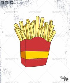French Fries  #GraphicRiver         French Fries Vector Illustration. Available in AI, EPS & CDR format. Fully customizable.     Created: 11September13 GraphicsFilesIncluded: VectorEPS #AIIllustrator Layered: Yes MinimumAdobeCSVersion: CS Tags: delicious #fastfood #fastfood #food #frenchfries #fries #fry #potato #restaurant #tasty