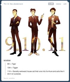 cat doctor who matt smith dw the doctor tigger David Tennant tiger Christopher Eccleston dr who Doctor doctor doctor Doctor doctors Fandoms Unite, Virginia Woolf, Serie Doctor, Otaku, Bae, Doctor Who Art, 11th Doctor, Out Of Touch, Don't Blink