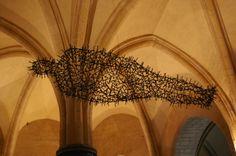 Iron nail man, Canterbury Cathedral.