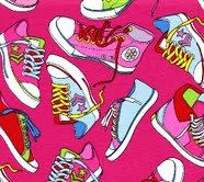 Kanvas Cool School Fabric Fun Multi Colored by AllegroFabrics, $10.00