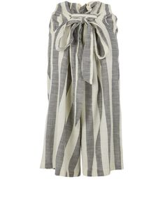 Ace and Jig Ivory Wide Stripe Cotton Culottes | Womenswear | Liberty.co.uk