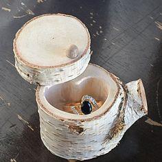 Wedding ring box wedding ring holder by WeddingGalleryDesign