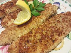 Renee's Kitchen Adventures: Almond Crusted Tilapia Easy and healthy way to prepare tilapia loins  #tilapia #fish