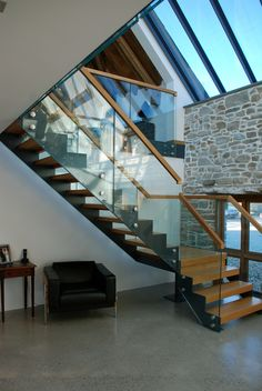 Grade ii* listed medieval barn conversion, bude, cornwall, uk - rustic - staircase - cornwall - by the bazeley partnership Rustic Staircase, House Staircase, Modern Staircase, Staircase Design, Stairs, Staircases, Barn Conversion Exterior, Barn House Conversion, Barn Conversions