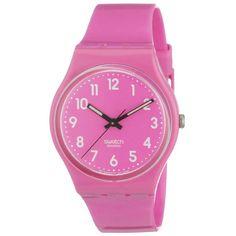 My new Swatch watch, I love it! :) Unisex Swiss Made Dragon Fruit Pink Plastic Quartz Watch