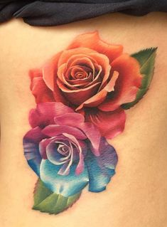 Feed Your Ink Addiction With 50 Of The Most Beautiful Rose Tattoo Designs For Men And Women - Blumen - Tatoo Ideen Rose Tattoo Cover Up, Cover Up Tattoos, Body Art Tattoos, Small Tattoos, Sleeve Tattoos, Side Tattoos, Foot Tattoos, Colorful Rose Tattoos, Coloured Rose Tattoo