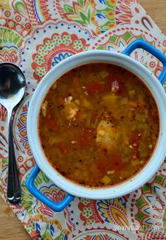 Chicken and Vegetable Soup | Slimming Eats - Slimming World Recipes