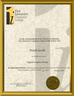 graphics design of certificate - Google Search