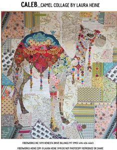 White Buffalo Collage Applique Quilt Pattern by Laura Heine from Fiberworks Inc 46 x 45