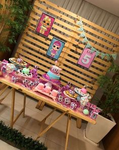 6th Birthday Parties, Slumber Parties, Girl Birthday, Bubble Guppies Birthday, Girls Party Decorations, Doll Party, Ideas Para Fiestas, Lol Dolls, Party Activities