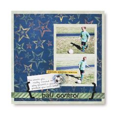 Primary Soccer Additions Scrapbook Idea from Creative Memories