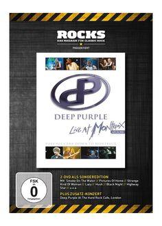 """DVD dei #DeepPurple intitolato """"Live at Montreux 2006 (Rocks Edition)""""."""