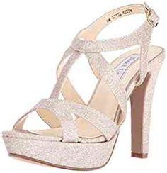 Amazon.com | Touch Ups Women's Queenie Platform Dress Sandal, Champagne, 5 M US | Platforms & Wedges