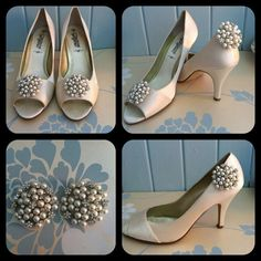 Crystal Flower and Pearl Circular Shoe Clips by CoutureAccessorize, £12.50