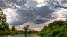 Storm over Bug river - Stormy cluds over the Bug river.