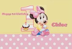 World of Pinatas - Minnie Mouse 1st Year Personalized Poster, $16.99 (http://www.worldofpinatas.com/minnie-mouse-1st-year-personalized-poster/)
