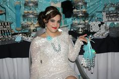 Damask and Tiffany Blue