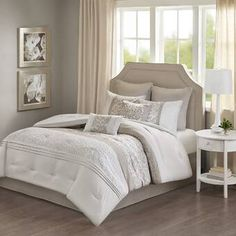 Charlton Home Sayers Comforter Set Size: California King Comforter + 7 Additional Pieces, Color: Beige/Ivory/Taupe Jla Home, Comforters, Mattress Furniture, Bedroom Decor, Comforter Sets, Furniture, Home, Bedding Sets, Home Decor
