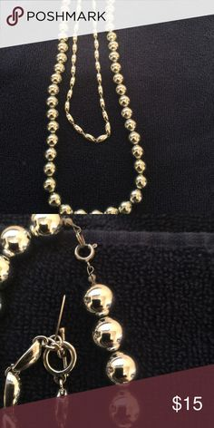 2 Beautiful Silver Plated Costume Necklaces Soooo Nice n heavy one is 24 in n the middle one is 16 in Jewelry Necklaces