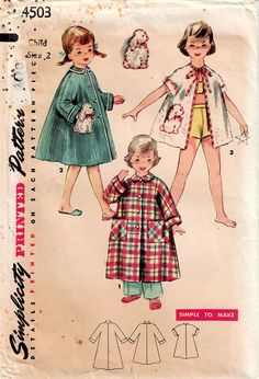 1950s Simplicity 4503 UNCUT Vintage Sewing Pattern Toddler