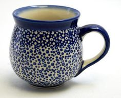 The Medium Belly Mug (Sea Foam) High-Quality Polish Stoneware from the largest supplier in the western United States - The Polish Pottery Outlet in Englewood, CO