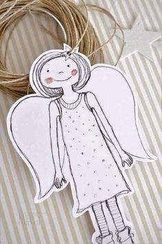 only 24 days left until the Advent Angel Crafts, Diy And Crafts, Christmas Crafts, Christmas Decorations, Paper Crafts, Christmas Love, Christmas Angels, Ideias Diy, Theme Noel