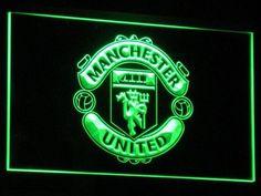 Manchester United F. - neon sign - LED sign - shop - What's your sign? Neon Light Signs, Led Neon Signs, Led Wall Clock, Sign Display, Manchester United Football, 3d Laser, Shop Signs, Light Colors, Colours