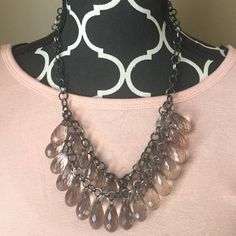 Beaded statement necklace Adjustable up to about 2 inches. Simplicity at its best! This statement necklace would also look great with that little black dress for a night out on the town! Jewelry Necklaces