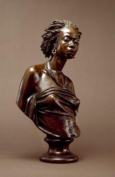 """African Venus"" by Charles Henri Joseph Cordier.  1851.  Bronze"