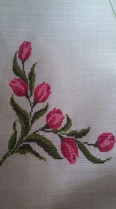 The most beautiful cross-stitch pattern - Knitting, Crochet Love Cross Stitch Letters, Cross Stitch Borders, Cross Stitch Samplers, Modern Cross Stitch, Cross Stitch Flowers, Counted Cross Stitch Patterns, Cross Stitch Designs, Cross Stitching, Cross Stitch Embroidery