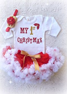 Sunny Me To You My First Christmas Babygrow Red Comfortable And Easy To Wear Baby & Toddler Clothing