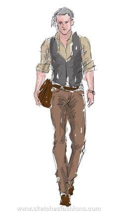 men-hand-fashion-sketch.jpg 1.019 ×1.842 pixels
