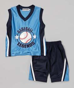 Another great find on #zulily! Blue 'Baseball Legends' Tank & Shorts - Infant, Toddler & Boys by Coney Island Kids #zulilyfinds