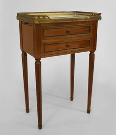 French Louis XVI table end table walnut