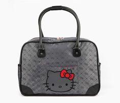 HK |❣| HELLO KITTY Hello Kitty Overnight Bag: Graphite Jacquard