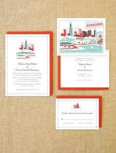 as seen on style me pretty chicago wedding map by cwdesigns2010, Wedding invitations