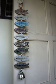 Items similar to handmade ceramic wind chimes designed with organic fish on Etsy Article op Etsy the op handmade ceramic wind chimes with organic shape of fish lijken Ceramics Projects, Clay Projects, Clay Crafts, Ceramic Clay, Ceramic Pottery, Cerámica Ideas, Clay Fish, Wooden Fish, Pottery Classes