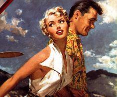 "sunmoonstar: "" the-art-of-romance: "" Illustration by Frank McCarthy (1953). "" """