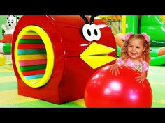 Outdoor Playground for kids Amusement park Giant doll's Family Fun Play Area Songs for children - YouTube