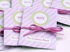Bianca's Birthday, Invitation. Invito per il compleanno di Bianca... www.100cheapandchic.com