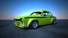 Ford Escort Green Outside by Astros on DeviantArt Escort Mk1, Ford Escort, Ford Rs, Car Ford, Retro Cars, Vintage Cars, Ford Motorsport, Gt Turbo, Automobile