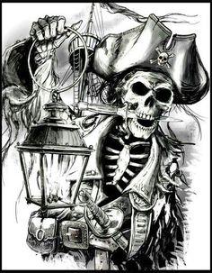 Perfect Pirate Skull Tattoo 12 In Design Tattoos With Pirate Skull Tattoo Pirate Art, Pirate Skull, Pirate Life, Pirate Skeleton, Pirate Ships, Skull Tattoos, Sleeve Tattoos, Pirate Tattoo Sleeve, Karten Tattoos