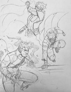 Some quick sketches of my favorite old man in action.