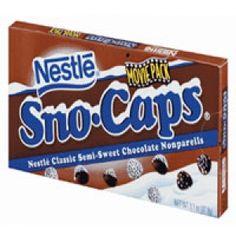 Nestle sno caps semi sweet chocolate, movie pack - 3.1 oz pack, 18 ea